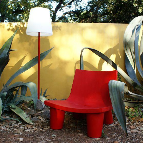 Fotel | Low Lita | czerwony - Makeithome.pl | Loving Creative Solutions