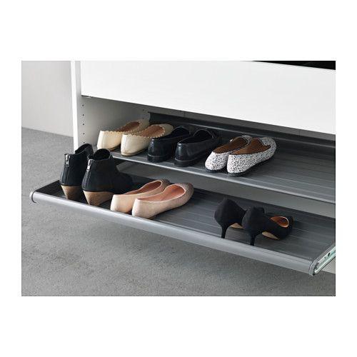 KOMPLEMENT Wysuwana półka na buty - ciemnoszary, 100x58 cm - IKEA
