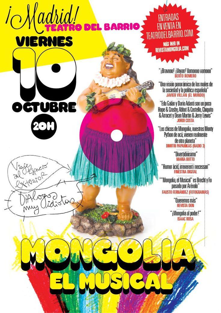 """MADRID: Regresa """"Mongolia, el Musical"""" en @teatrobarrio en octubre y casi ya no quedan entradas!! BY Revista Mongolia @revistamongolia"""