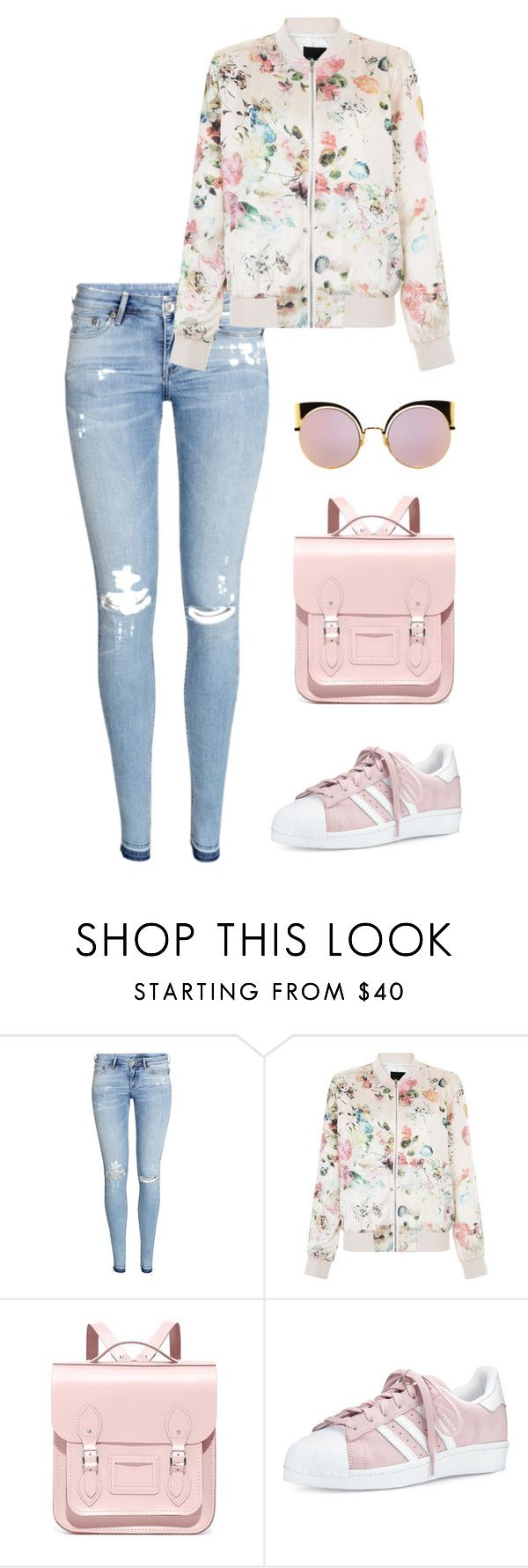 """Untitled #274"" by fofo-moon ❤ liked on Polyvore featuring H&M, New Look, The Cambridge Satchel Company, adidas and Fendi"