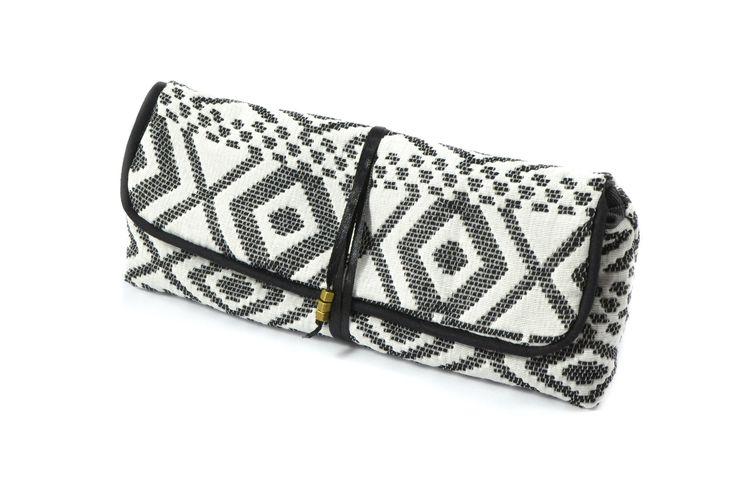 Petite trousse motif aztèque noir et blanc : Trousses par lin-temporelle
