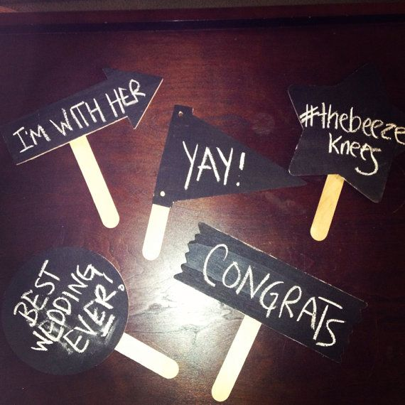 wedding photo booth prop signs! www.etsy.com/shop/thebeezeknees