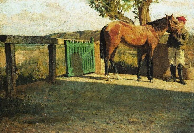 Giuseppe Abbati  Cavallo al sole, c. 1865-1866