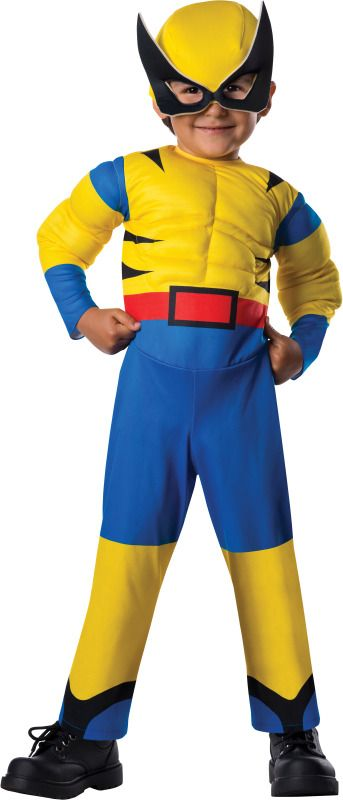 Marvel X-Men Wolverine Toddler Costume - Marvel Wolverine costume includes:  Jumpsuit Mask  #marvel #wolverine #xmen #toddler #superhero #infant #calgary #yyc