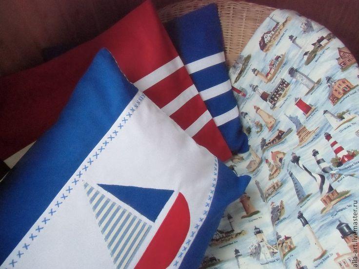 Купить Подушки в морском стиле - интерьер детской, морской стиль, морской стиль фотосессия