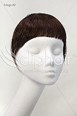 Clip on Fringe: instantly add a real human hair clip in fringe
