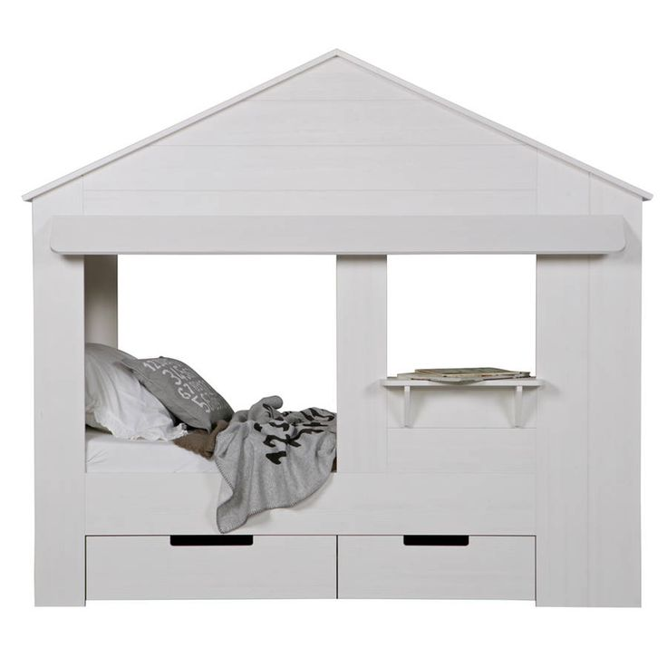 Kids House Cabin Bed With Storage Drawers