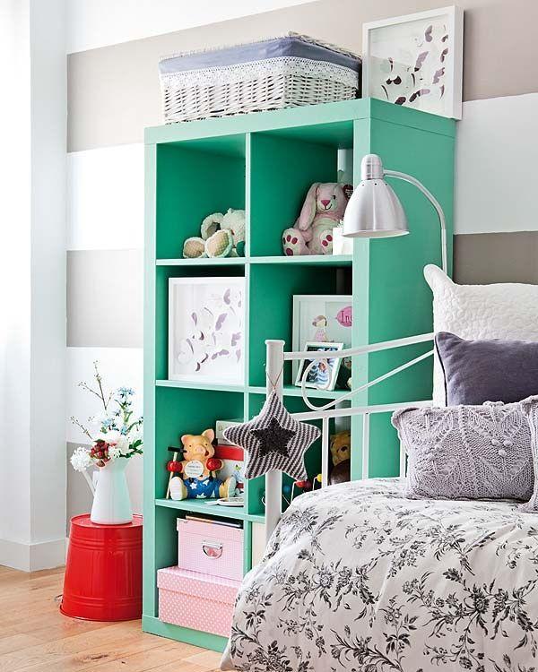 painted Expedit shelf from IKEA.#ikea #hacks