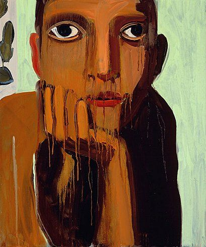Chantal Joffe  OLIVE, 2007  Oil on board  24 x 20 inches