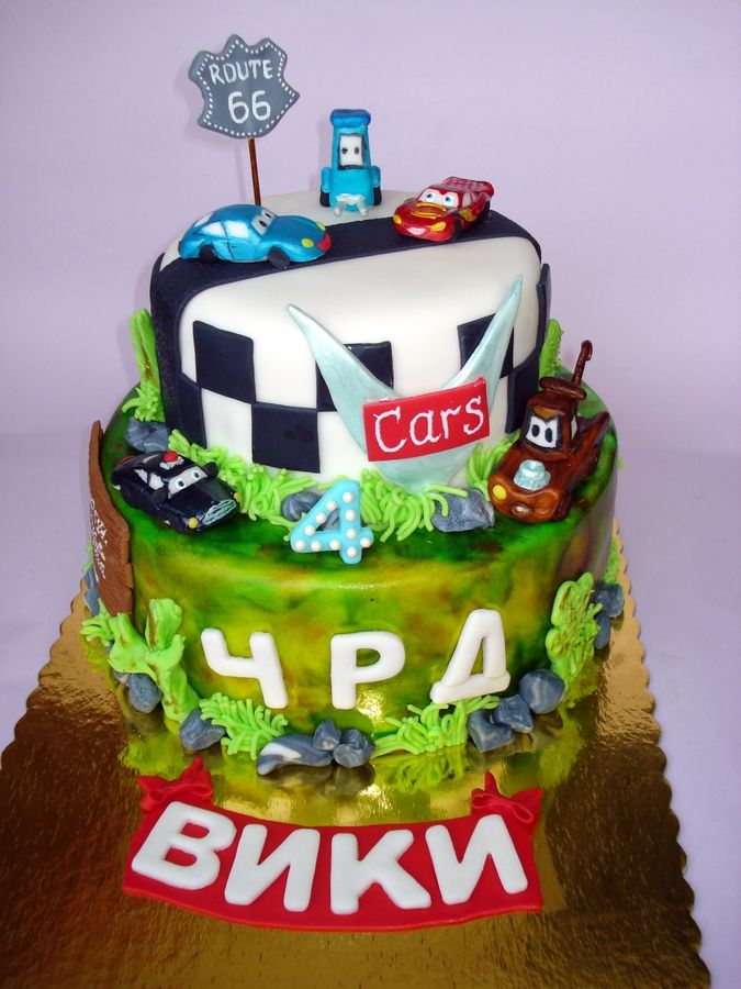 Off Kilter Floral Birthday Cake