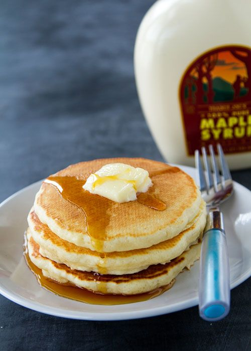Japanese Hot Cakes with Maple Syrup