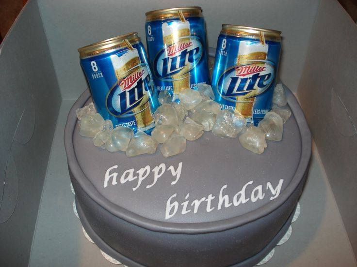 Happy Birthday Miller Lite Cake