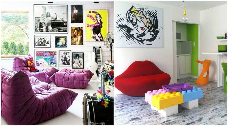 Необычная мебель в стиле поп-арт #interior #мебель #дизайн #интерьер #дом #уют #декор