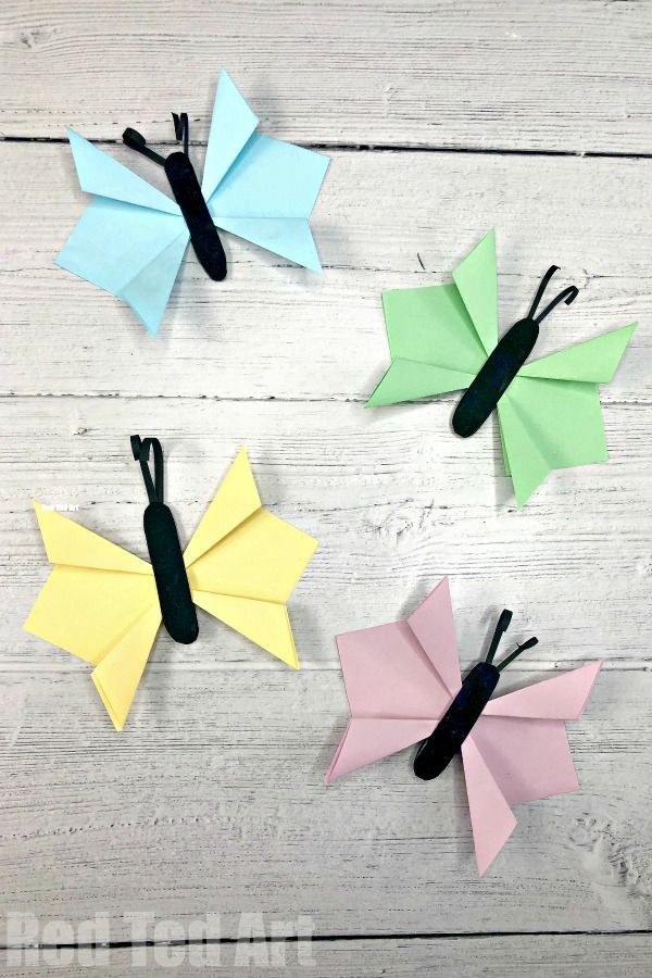 How To Make A 3d Butterfly Out Of Paper Step By Step Red Ted Art