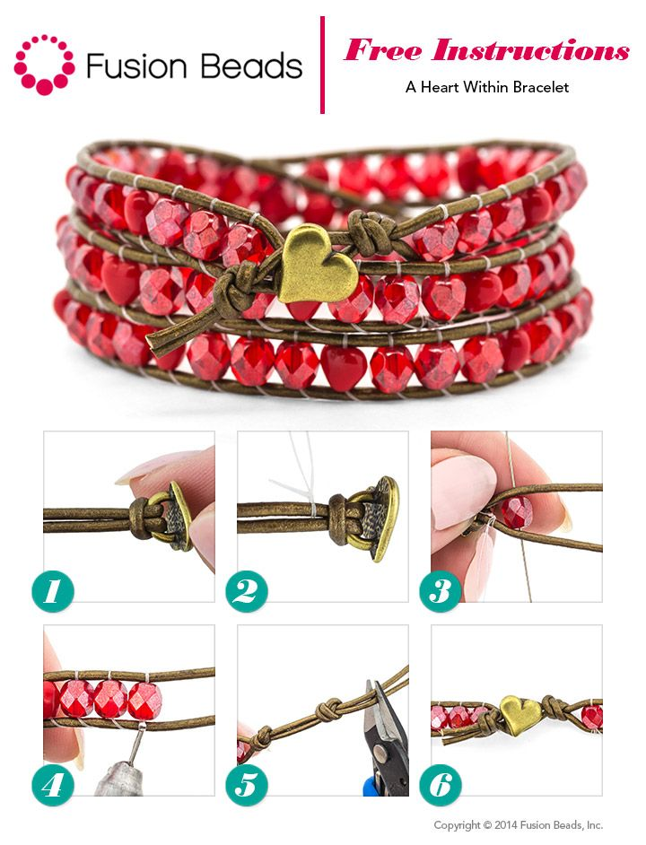 You can make your very own wrapped cord bracelet like a pro with our simple technique. Take a look at how perfect our A Heart Within design is for Valentine's Day this year.