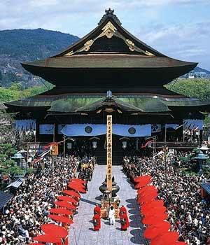Zenkō-ji, a Buddhist temple located in Nagano. 善光寺