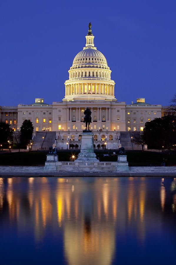 Twilight over the United States Capitol, Washington, D.C.