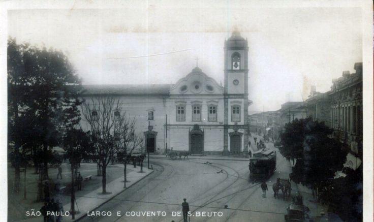1910 - Largo de São Bento - Igreja Antiga - Ed. Desconhecido - Ebay