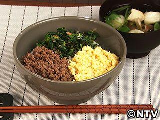 3色そぼろ丼のレシピ|キユーピー3分クッキング