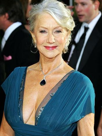 Helen Mirren is a beautiful example of a woman glowing in her Crone years with sensuality and spunk.