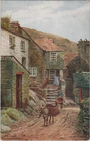 Vintage postcard of a Fisherman's House by DakotabooVintage