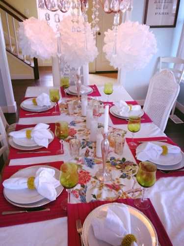 Spring time tablescape