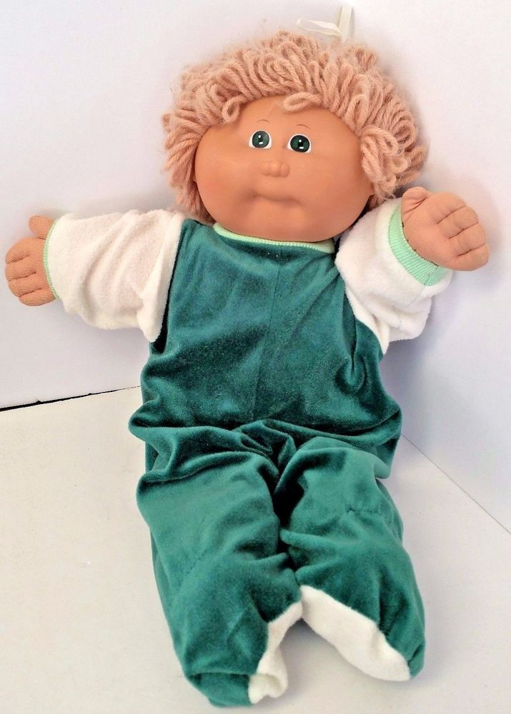Cabbage Patch Baby Doll Light Brown Sandy Hair Green Eyes Xavier Roberts Vintage #CabbagePatch #DollswithClothingAccessories