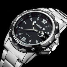 Relógios homens marca de luxo relógio de quartzo homens de aço completa relógios de mergulho 30 m relógio ocasional relógio masculino(China (Mainland))