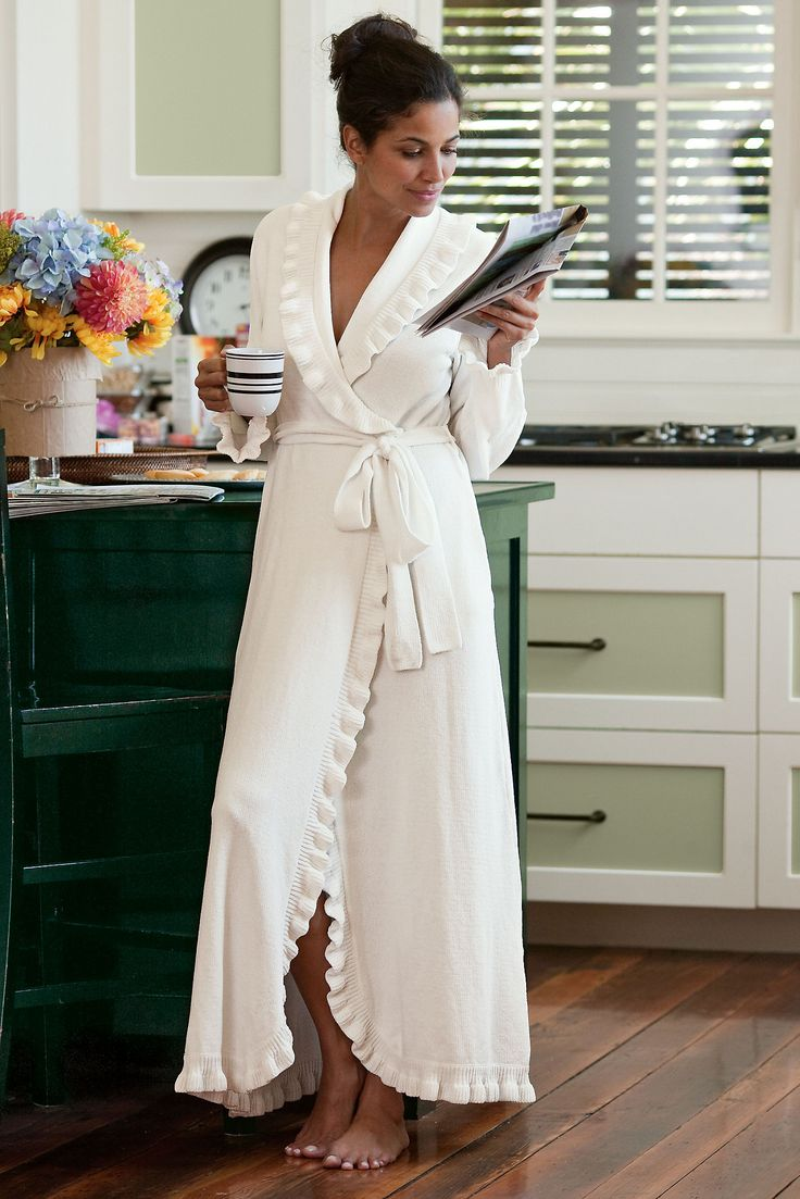 Ruffle Chenille Robe - adorable accents in the ultimate softness   Soft Surroundings