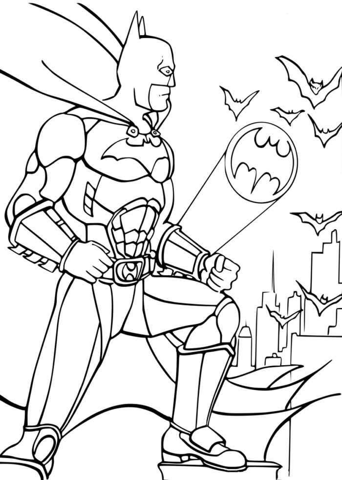 Batman Signal Coloring Page Superhero Coloring Batman Coloring Pages Superhero Coloring Pages