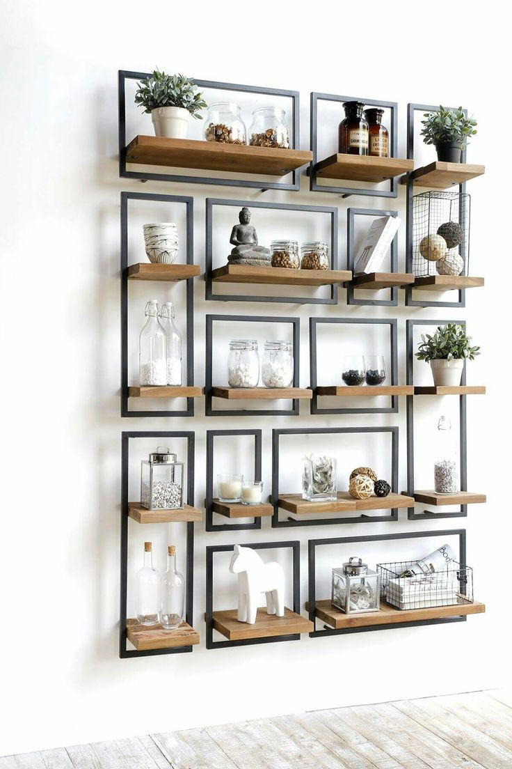 Idea and detail peg for floating shelves of kitchen; solid steel bars, with welded flat supports, mounted to slab soffit; structure to be concealed with gypsum ceiling