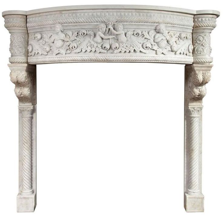 Venetian Renaissance Style Marble Mantel | From a unique collection of antique and modern fireplaces and mantels at https://www.1stdibs.com/furniture/building-garden/fireplaces-mantels/