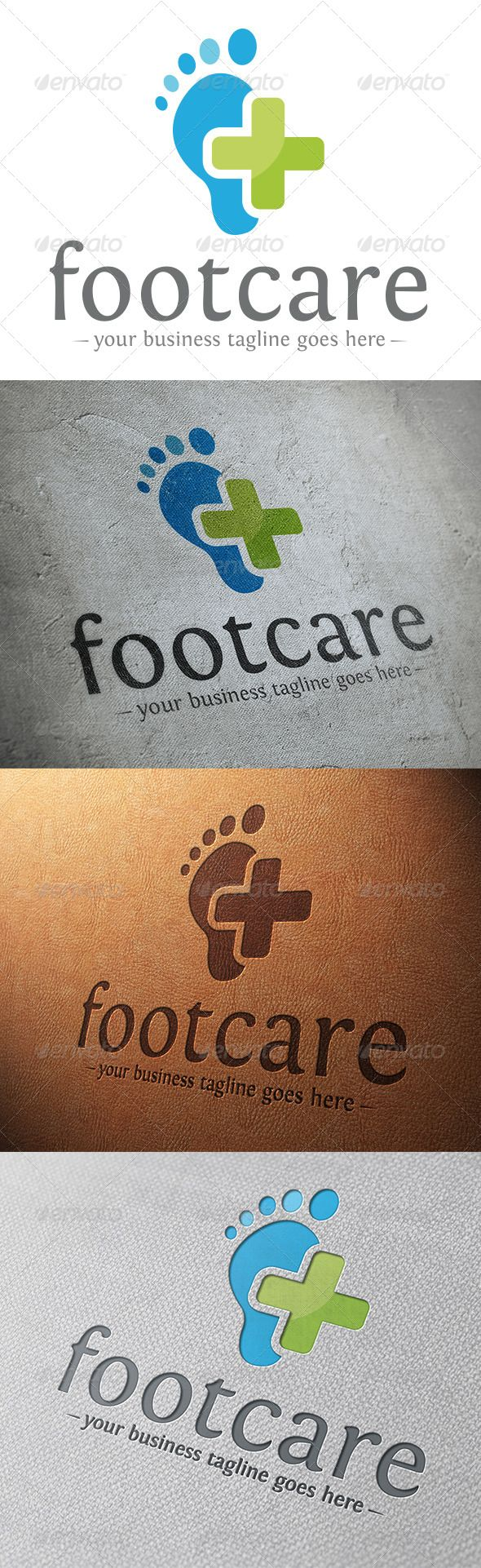 Foot Care Logo Template — Vector EPS #identity #simple • Available here → https://graphicriver.net/item/foot-care-logo-template/5859942?ref=pxcr