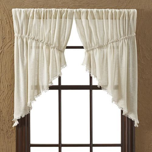 Okslo August Grove Francoise Cloth Natural Fringed Prairie Curtain