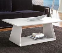 Table basse en bois blanc laqué mat design NUAGE SOFAMOBILI-30