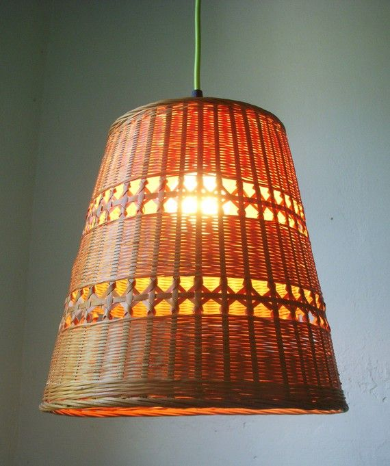 Woven Basket Lamp : Best weaving lamps wyplatane lampy images on