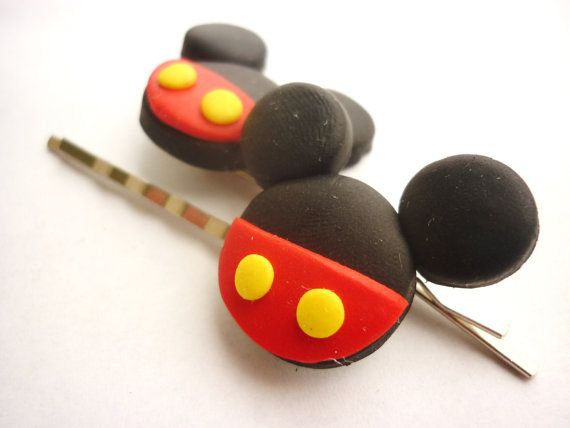 Cartoon inpired  hair pins bobby pins colored by JustFingerPrint, $7.00