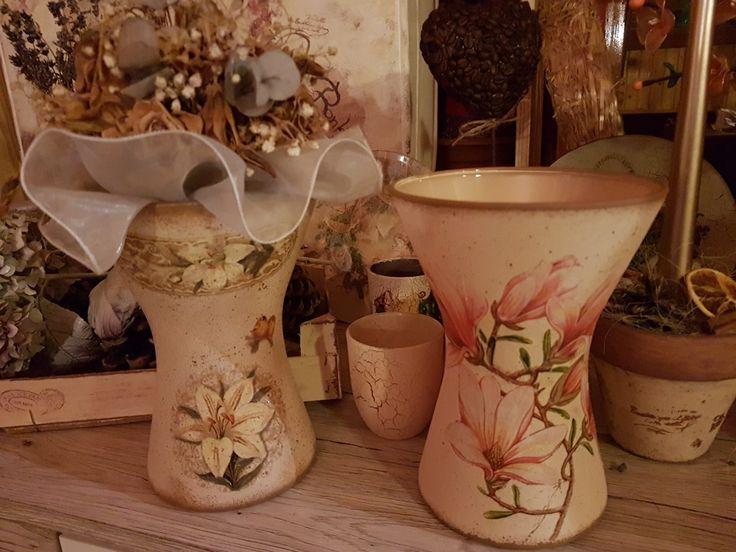 Vase, váza, decoupage