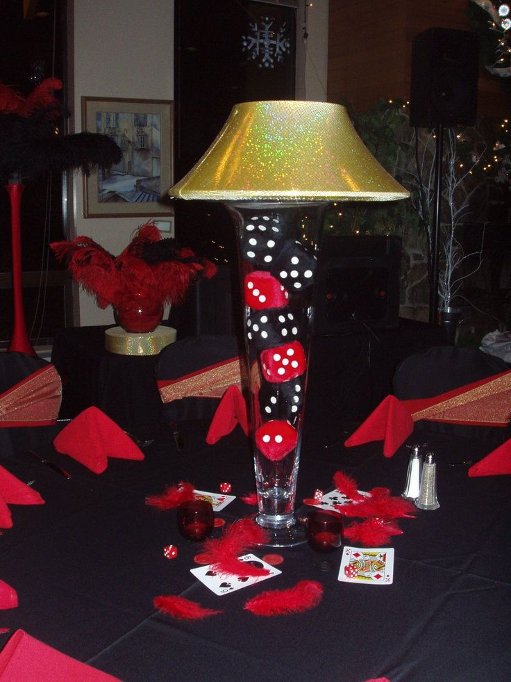 Casinos Centerpieces Lamp Vase Vegas Centerpiece Vegas Casino Theme Casino Themed