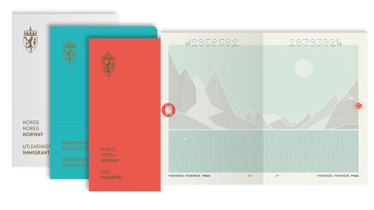 Norway's new hip passports. ... and they change under UV light.