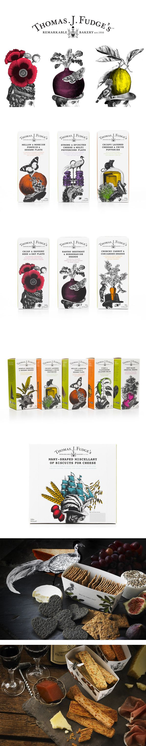 Thomas J Fudge's by Big Fish is awesome illustrated cracker #packaging PD