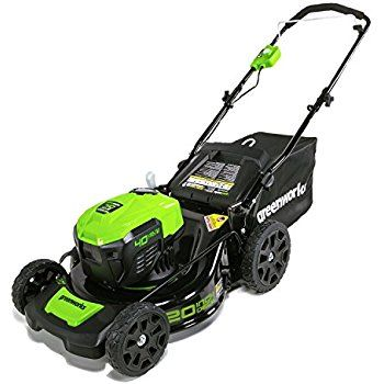 GreenWorks MO40L410 G-MAX 40V 20-Inch Cordless 3-in-1 Lawn Mower with Smart Cut Technology, (1) 4Ah Battery and Charger included : Patio, Lawn & Garden