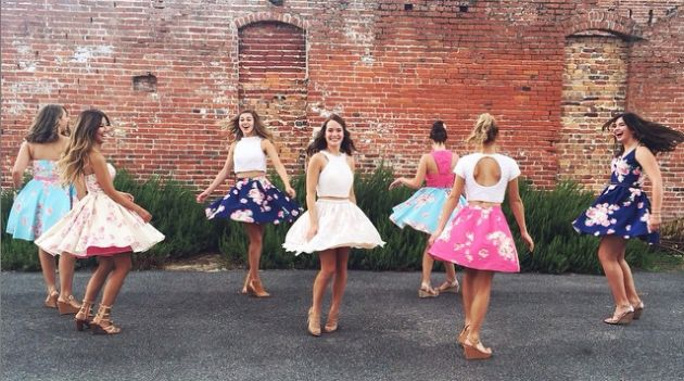 Mary Kate and her bridesmaids at pre-wedding festivities (Instagram)