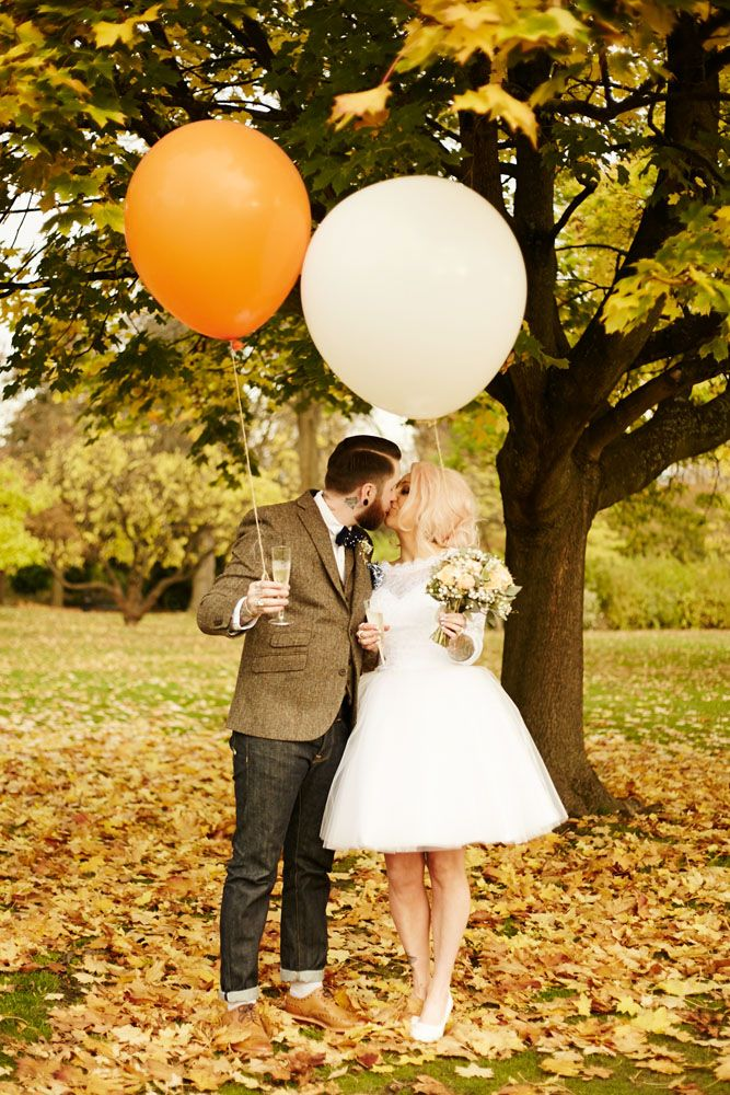 Autumnal Halloween Wedding at a Botanical Gardens
