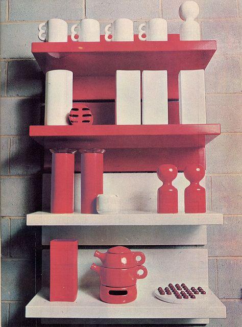 Shelf Unit By Marcello Siard, Pottery By Gabbianelli