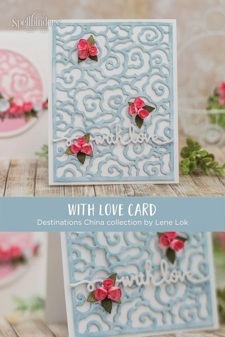 You Can Make This Beautiful Love Card Using Etched Dies From The
