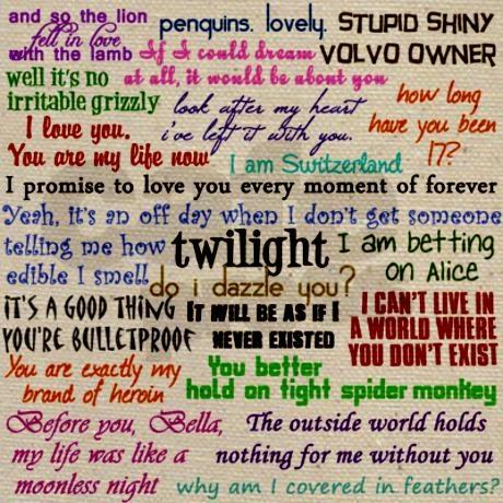 Twilight saga quotes - Via Cafe Press