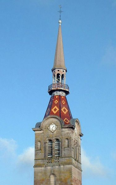 Clocher d'une église de France : 70348 - Moffans-et-Vacheresse