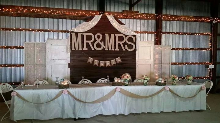 I made this for my daughters wedding in a pole barn.