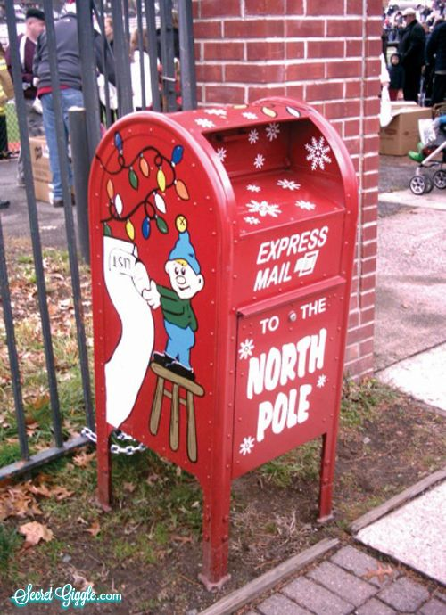 Express mail to the north pole mailboxes pinterest for What to do with old mailbox